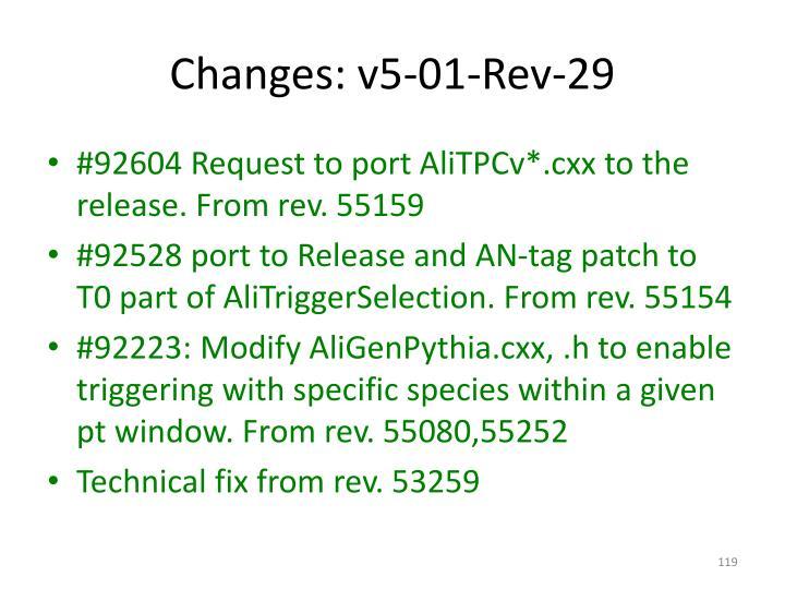 Changes: v5-01-Rev-29