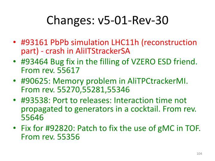Changes: v5-01-Rev-30