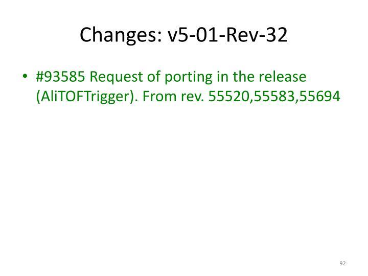 Changes: v5-01-Rev-32