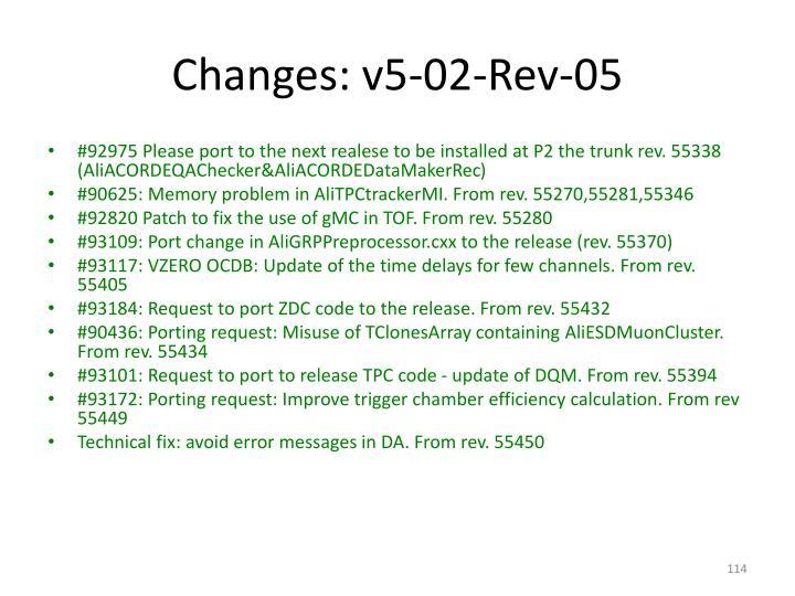 Changes: v5-02-Rev-05