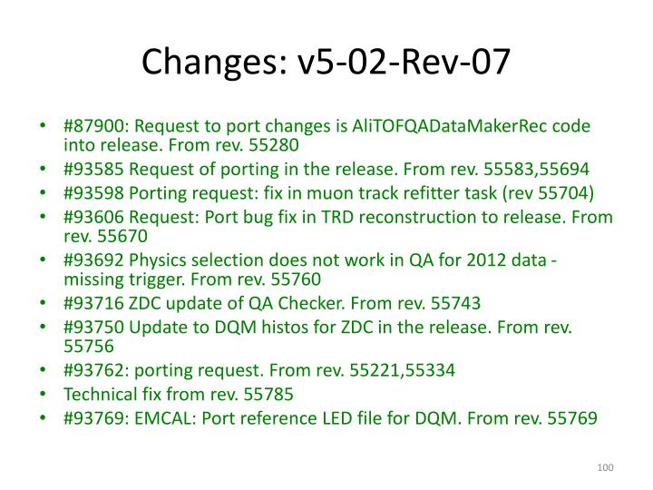 Changes: v5-02-Rev-07