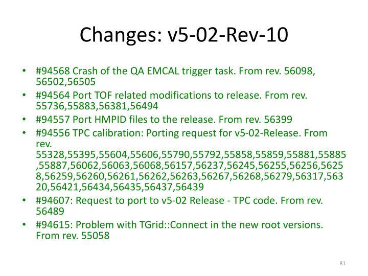 Changes: v5-02-Rev-10