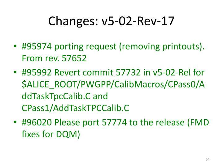 Changes: v5-02-Rev-17