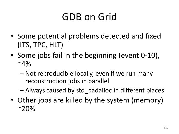 GDB on Grid