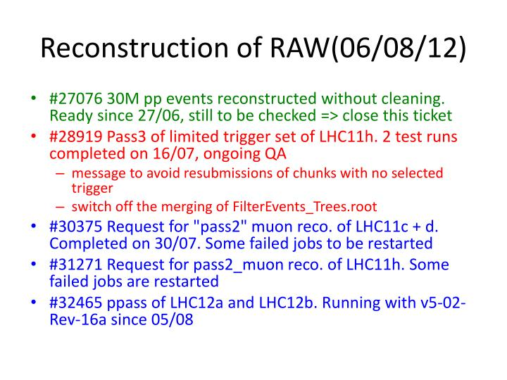 Reconstruction of RAW(06/08/12)