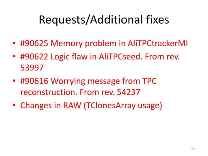 Requests/Additional fixes