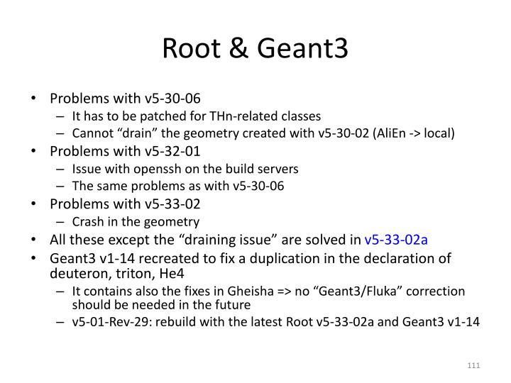 Root & Geant3