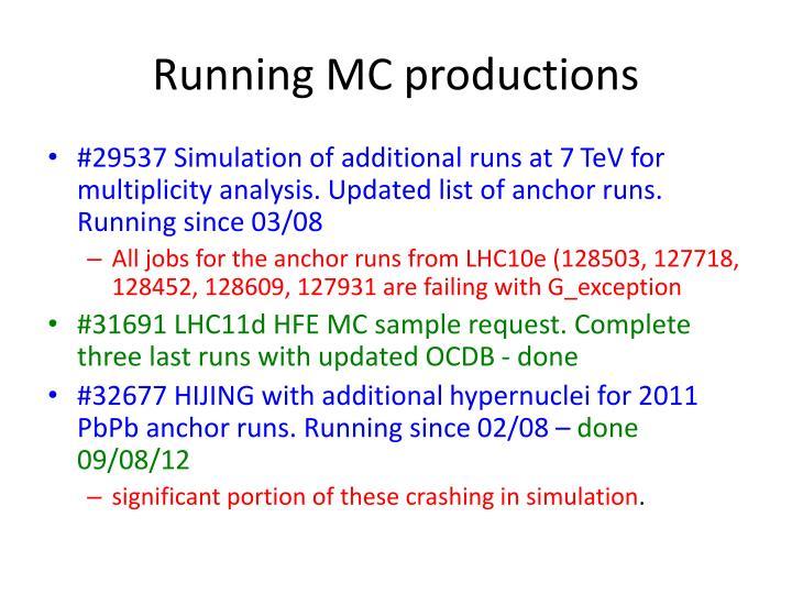Running MC productions