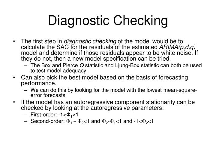 Diagnostic Checking