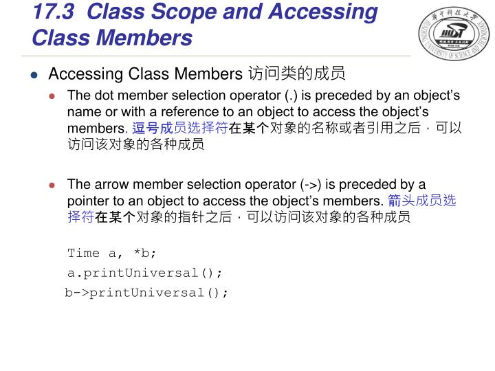 17.3Class Scope and Accessing Class Members
