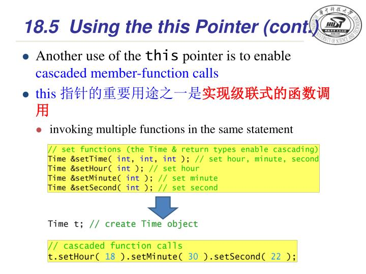 18.5Using the this Pointer (cont.)