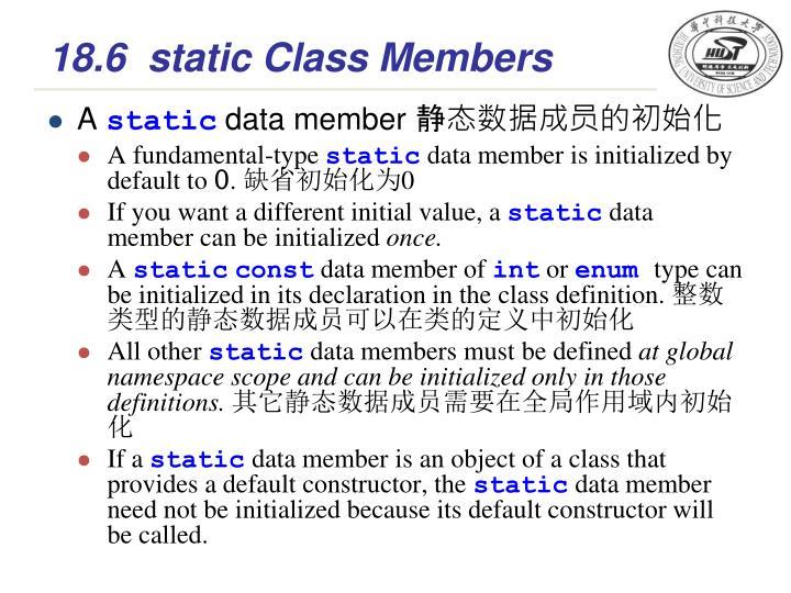 18.6static Class Members