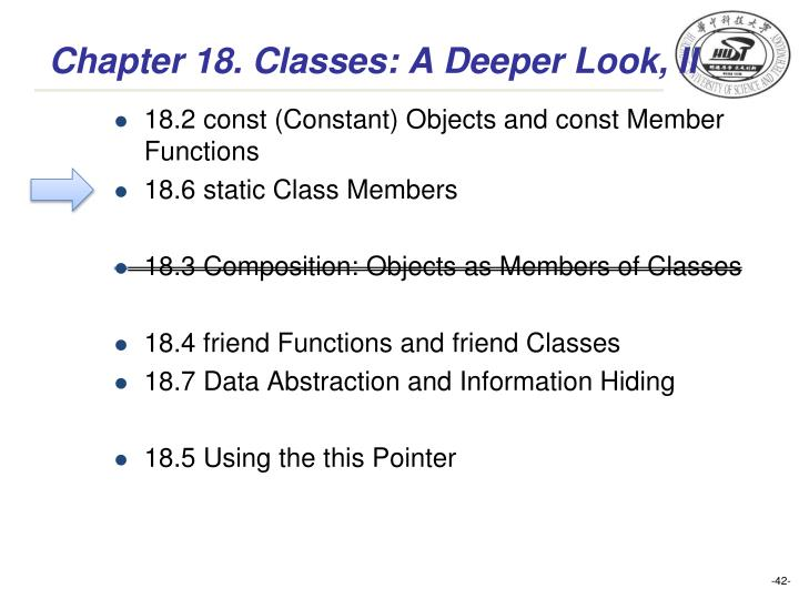 Chapter 18. Classes: A Deeper Look, II