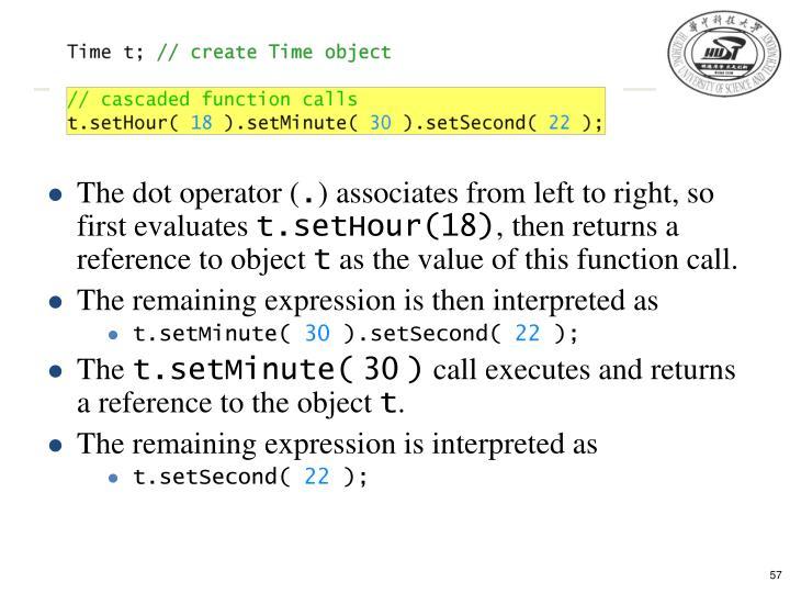 The dot operator (