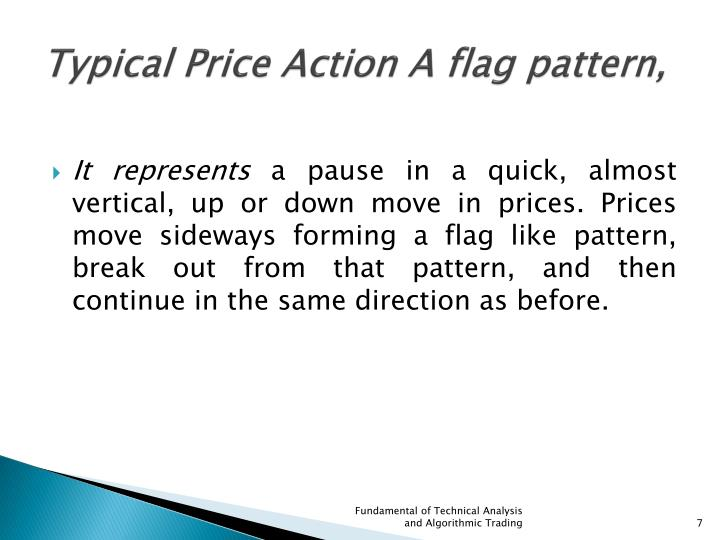 Typical Price Action A flag pattern,