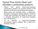 typical price action head and shoulders continuation patterns