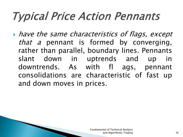 Typical Price Action Pennants