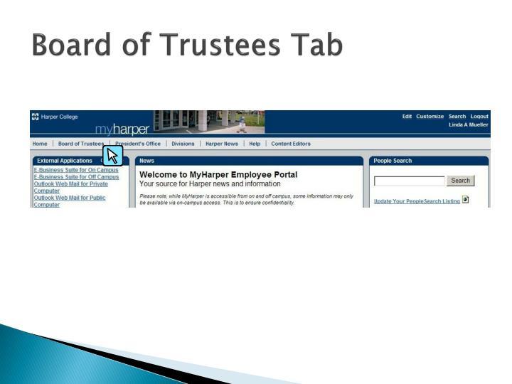 Board of Trustees Tab