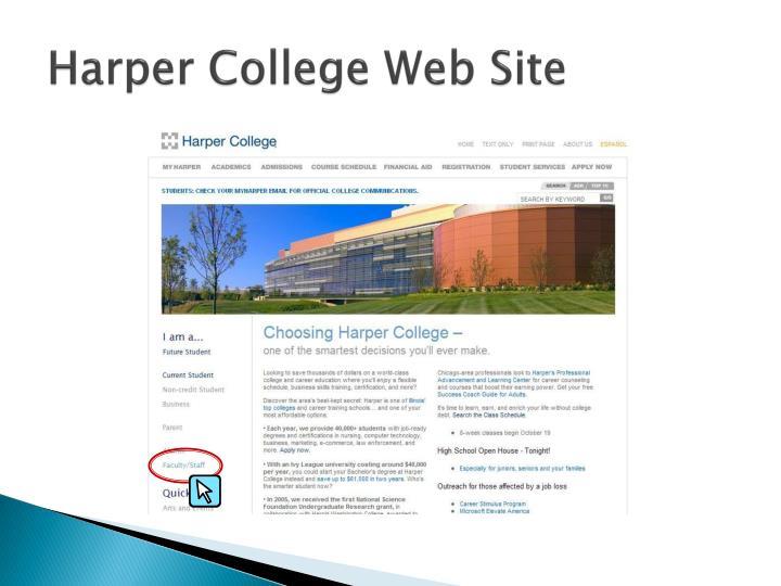 Harper College Web Site