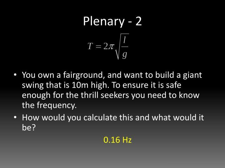 Plenary - 2