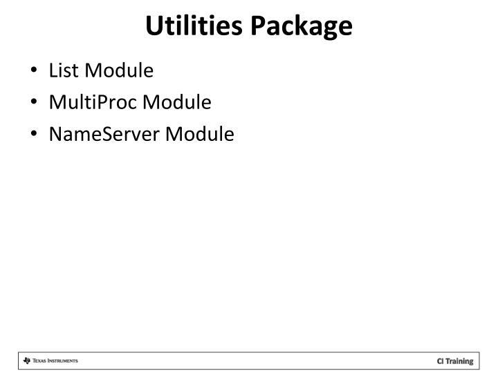 Utilities Package