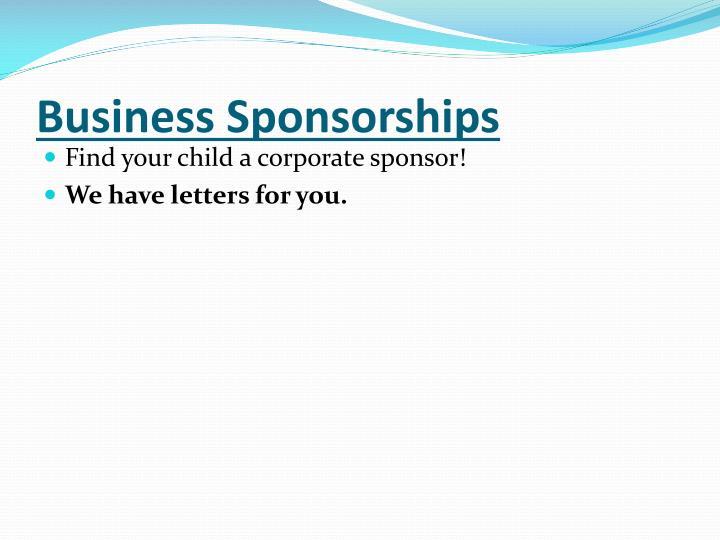 Business Sponsorships