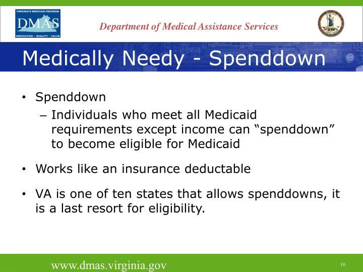 Medically Needy - Spenddown