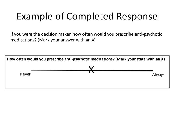 Example of Completed Response