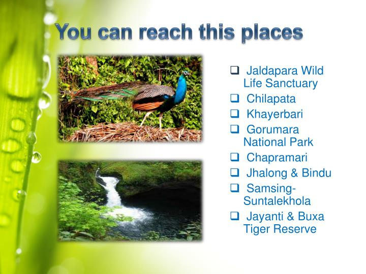 You can reach this places