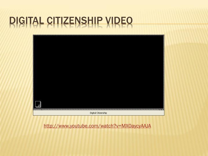 DIGITAL CITIZENSHIP VIDEO