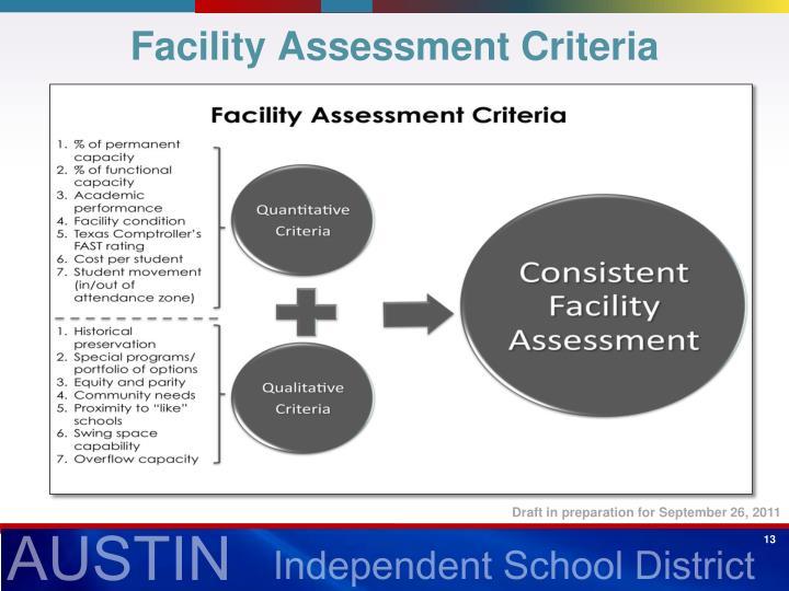 Facility Assessment Criteria