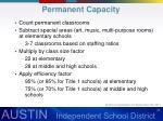permanent capacity