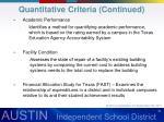 quantitative criteria continued