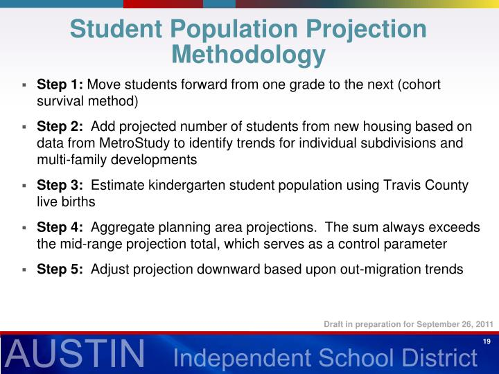 Student Population Projection Methodology