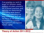 theory of action 2011 2012