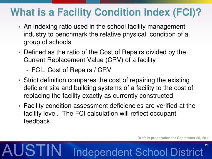 What is a Facility Condition Index (FCI)?