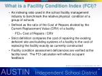 what is a facility condition index fci