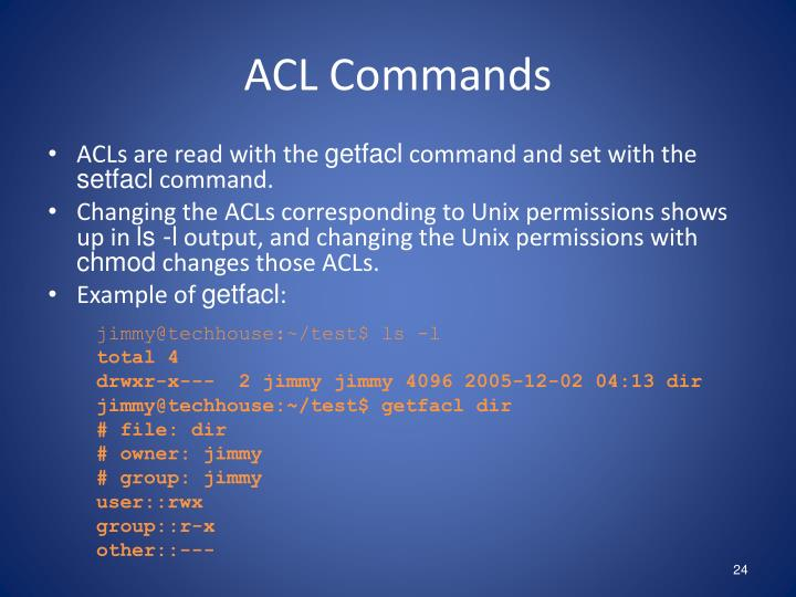 ACL Commands