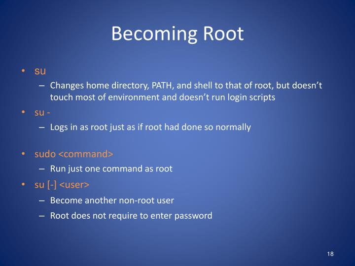 Becoming Root