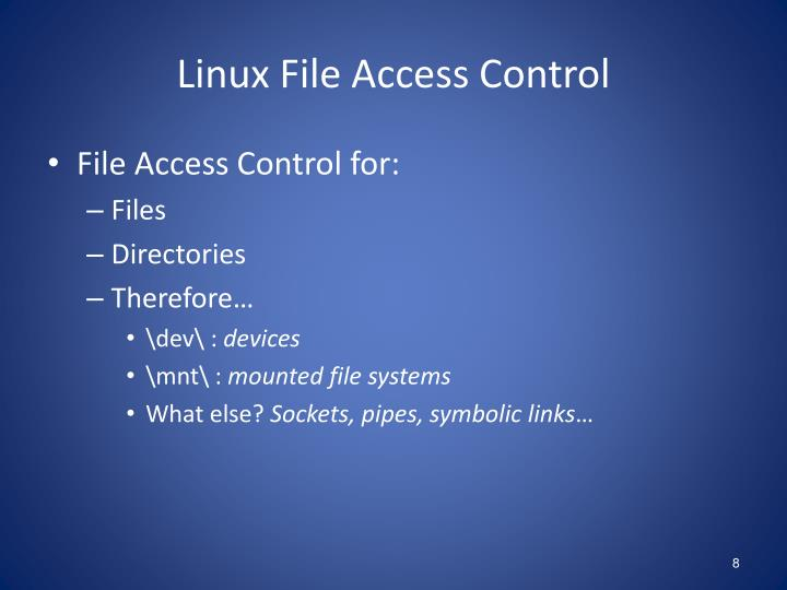 Linux File Access Control