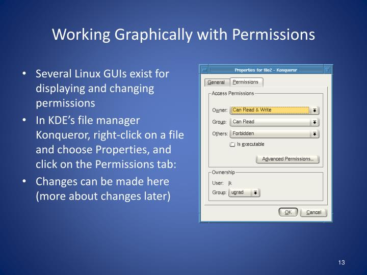 Working Graphically with Permissions