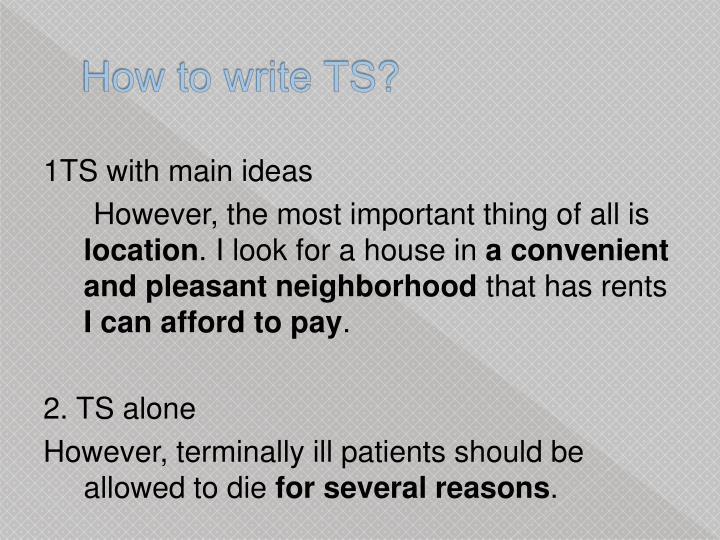 How to write TS?
