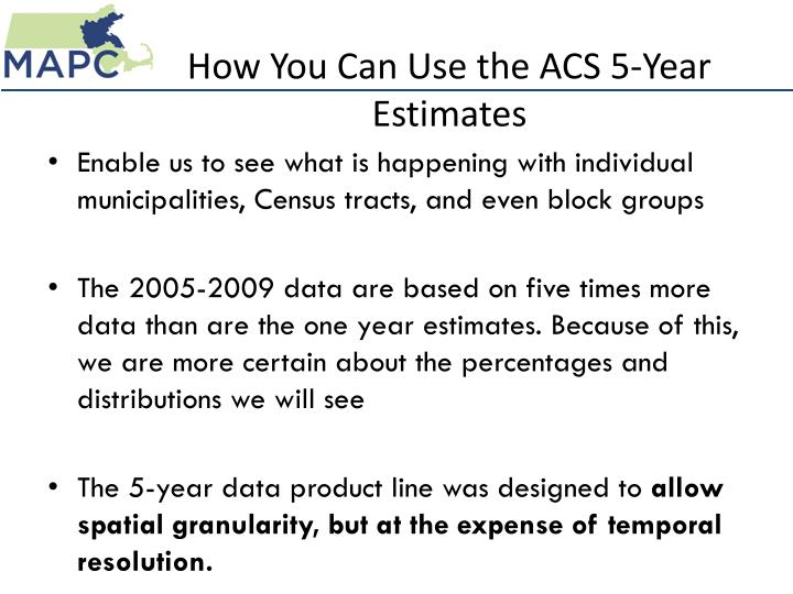 How You Can Use the ACS 5-Year