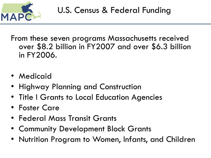 U s census federal funding