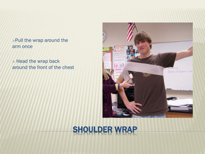 Pull the wrap around the arm once