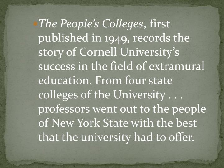 The People's Colleges