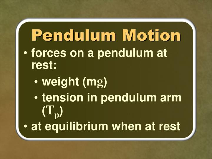 Pendulum Motion
