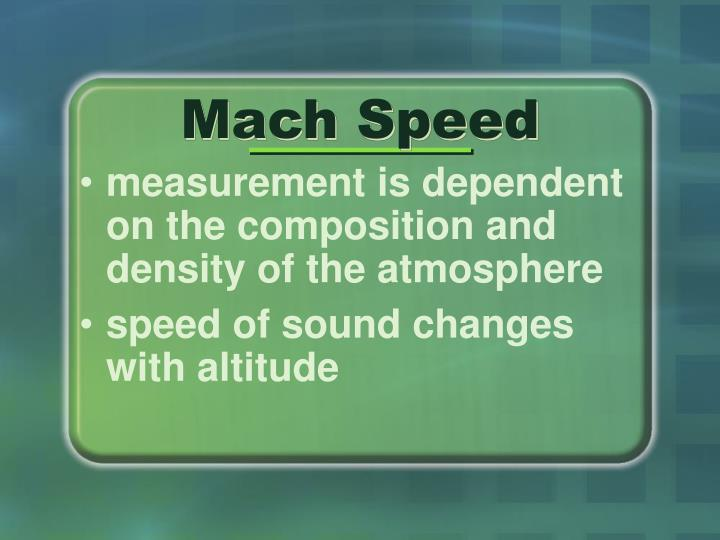 Mach Speed