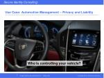use case automotive management privacy and liability