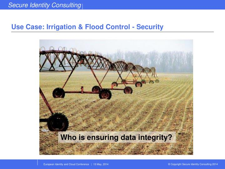 Use Case: Irrigation & Flood Control - Security